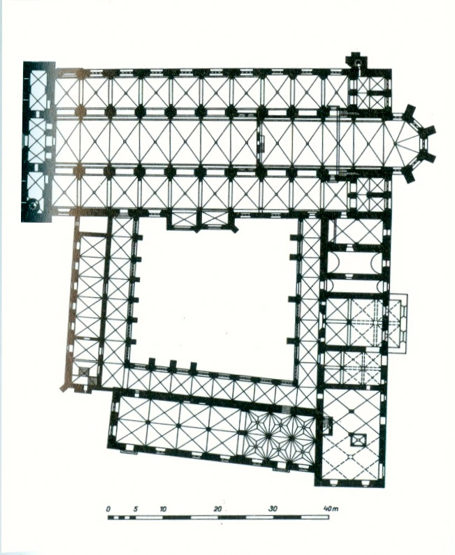 Dom St. Marien zu Havelberg, Grundriss nach Georg Dehio, gemeinfrei