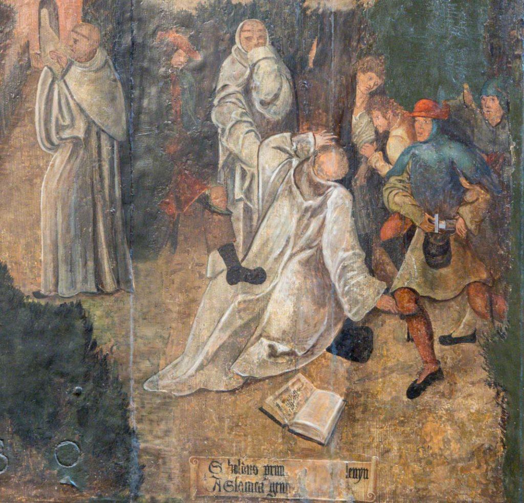 Ermordung des Abtes Sibold, Detail