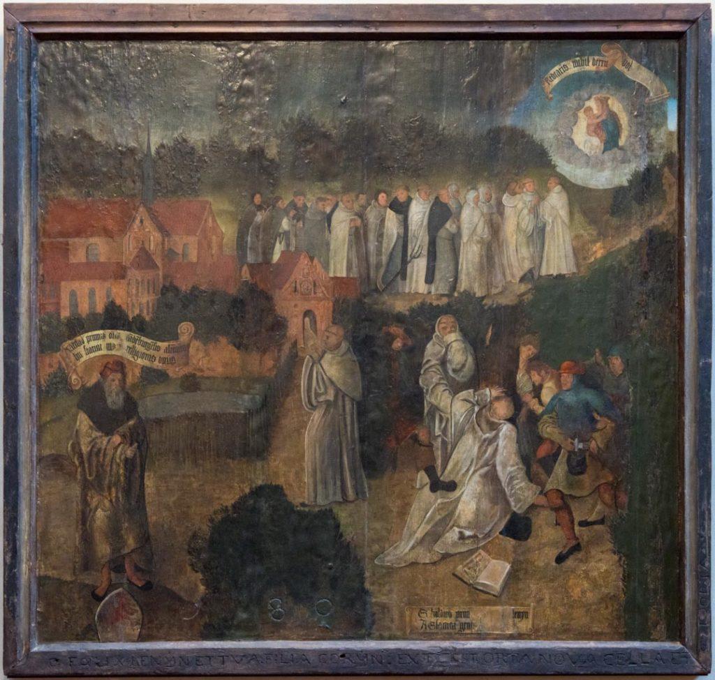 Ermordung des Sibold, Gemälde aus dem frühen 16.Jh, unbekannter Künstler, gemeinfrei