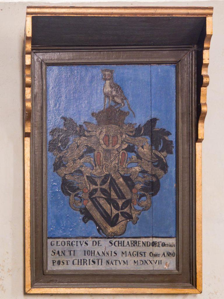Komturei Lietzen Epitaph des Georgius de Schlabrendorf († 1527)