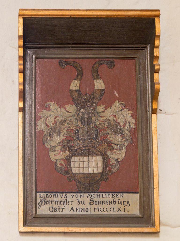 Komturei Lietzen Epitaph des Liborius von Schlieben († 1461)
