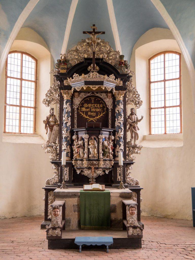 Komturei Lietzen Kanzelaltar von 1701