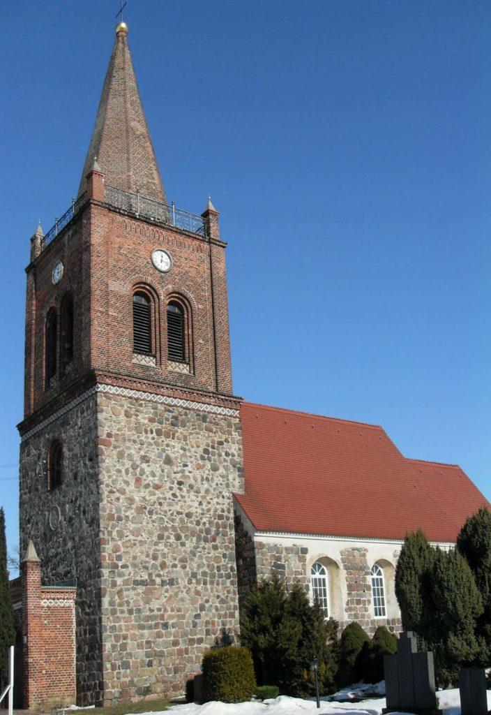Dorfkirche Marxdorf, Ansicht von Südwest