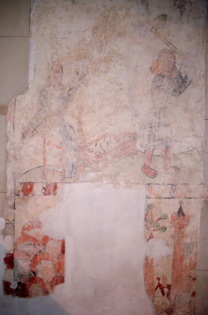 Dorfkirche Sieversdorf Wandmalerei