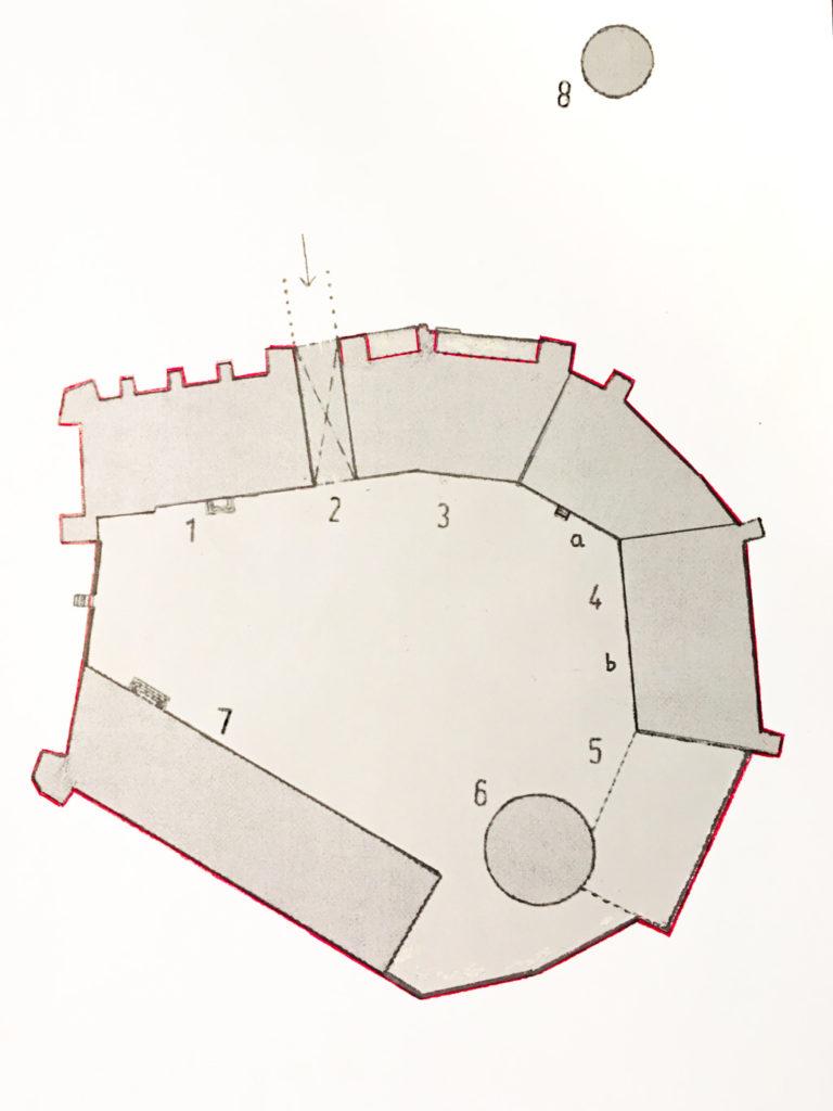 Lageplan der Bischofsresidenz Ziesar