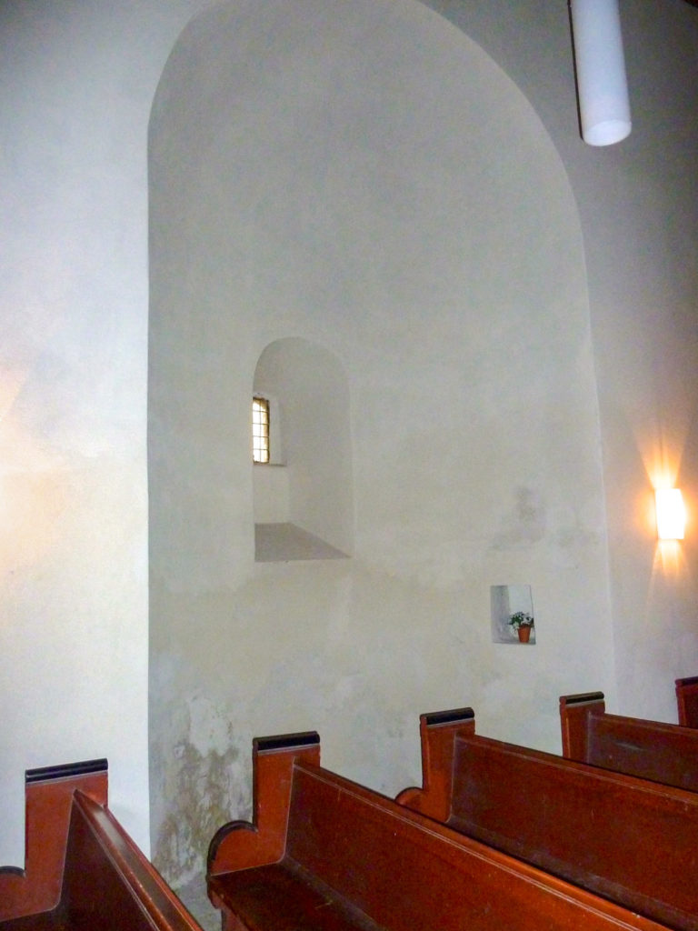 Dorfkirche Wusterwitz. Südliche Nebenapsis.