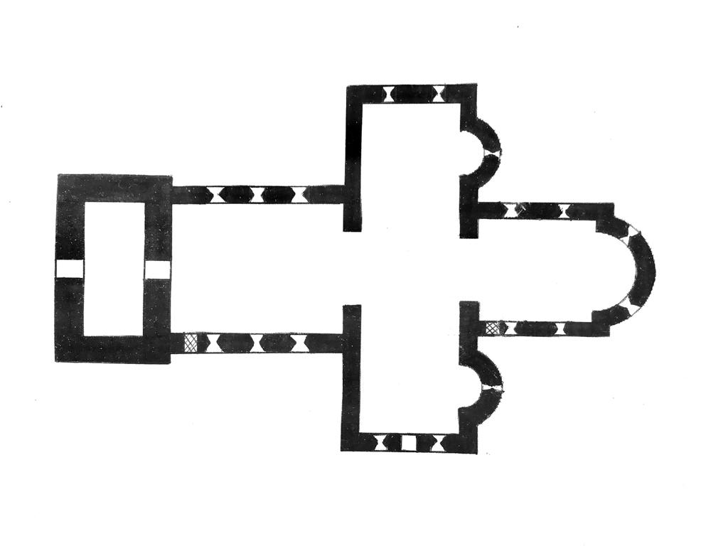 Kirche Wusterwitz Grundriss
